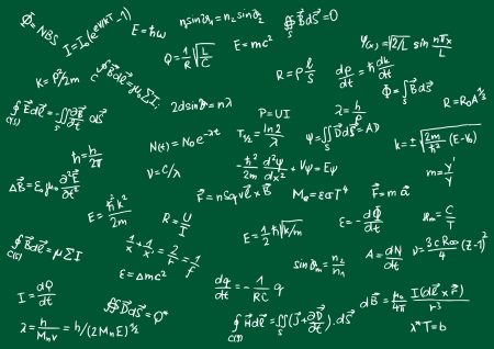 Blackboard with physical formula Vector