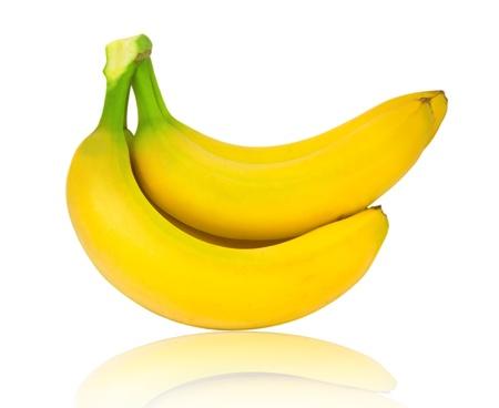 Bananas isolated on white photo