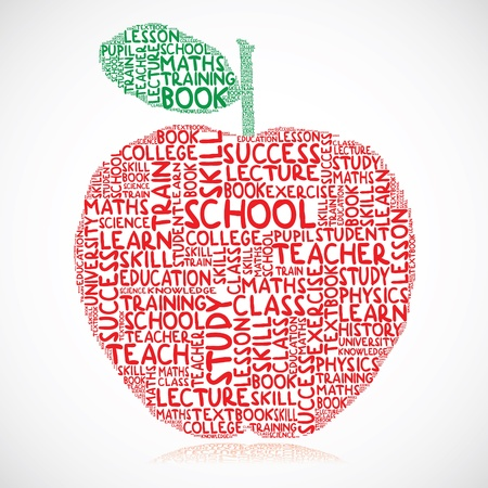 Illustration of education apple Vector