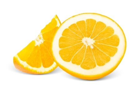 orange slices: Citrus slices isolated on white Stock Photo