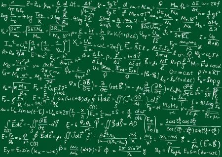 Blackboard mit physikalischen Formeln Standard-Bild - 14500732