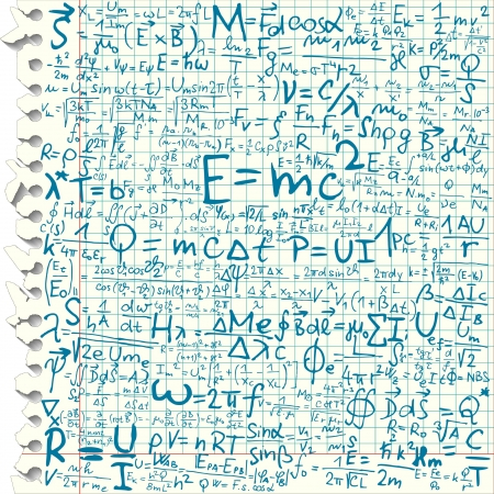 derivation: Physical formula on squared paper