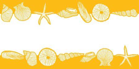 starfish beach: Seashell design  Illustration