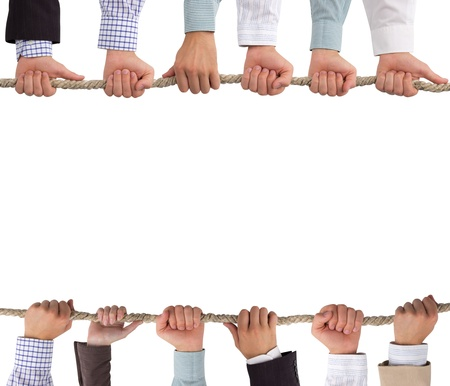 Hands holding rope, conceptual background Stock Photo - 14662787