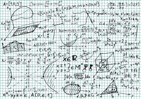 integral: Papel cuadriculado con ecuaciones matem�ticas y bocetos