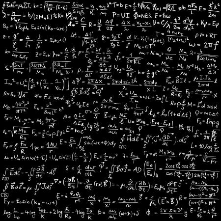 magnetismus: Blackboard mit physikalischen Formeln