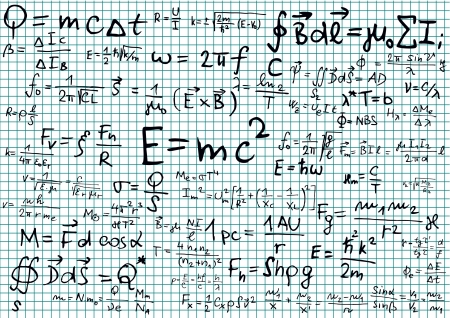 squared paper: Mathematical formula on squared paper