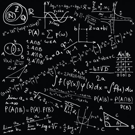 integral: Las ecuaciones matem�ticas y bocetos - ilustraci�n vectorial Vectores