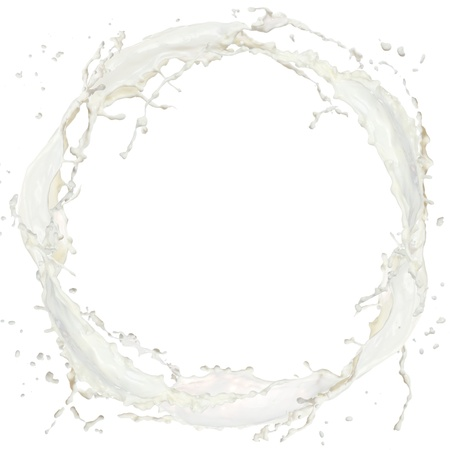 Milk splash isolated on white Stock Photo