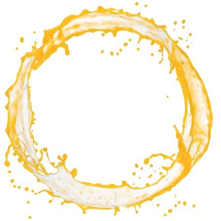 Orangensaft splash isoliert auf weiß Standard-Bild - 14872666