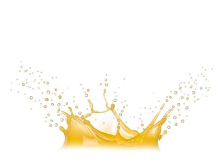 Orange splash isoliert auf weiß Standard-Bild - 14953279