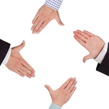 Business Hände bilden Frame Standard-Bild - 14953320