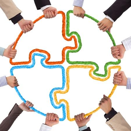 パズルの両手のロープを形成