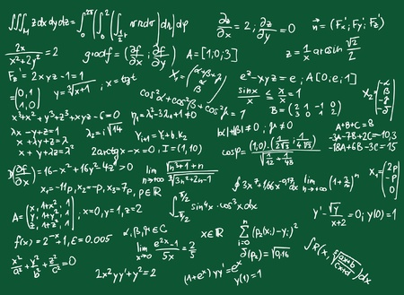 Blackboard with mathematics formula illustration  Stock Vector - 15120759