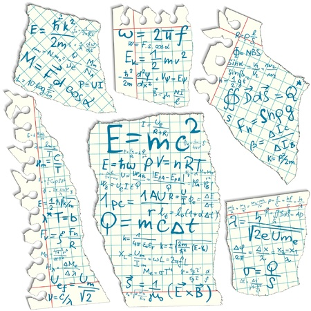 Mathematical Formula On Squared Paper Royalty Free Cliparts, Vectors ...