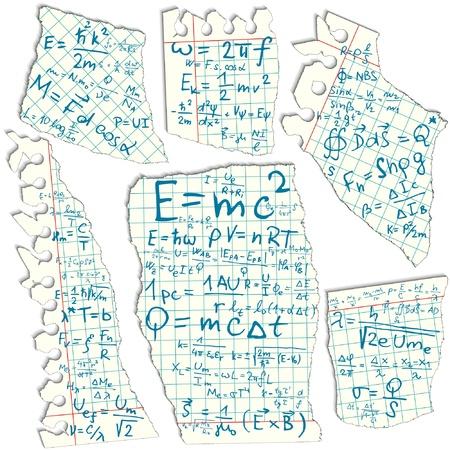 scalar: Physical formula on squared paper illustration  Illustration
