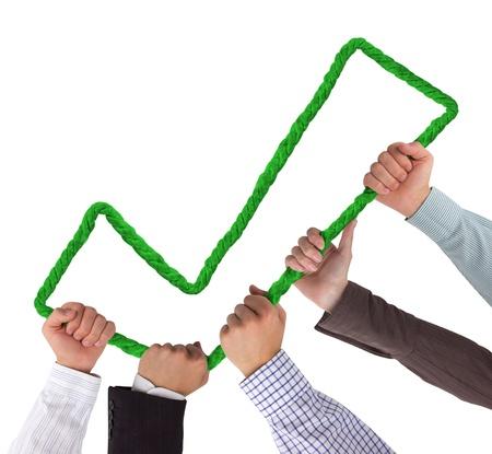 buen trato: Manos que sostienen el gran signo positivo verde aislado en blanco