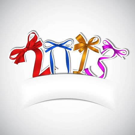 New year 2013 colorful ribbons greeting card Vector