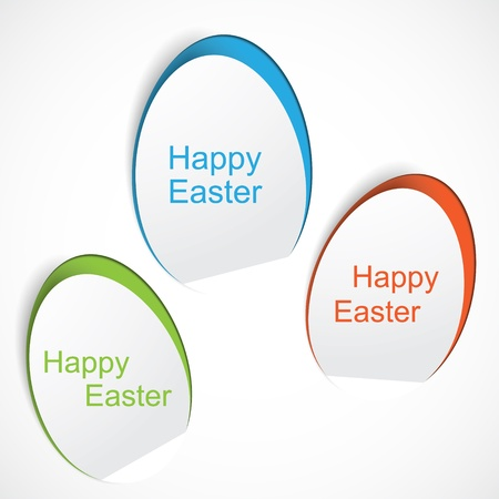 Colorful Easter egg stickers Vector