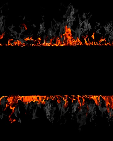 orange inferno: Flames abstract background