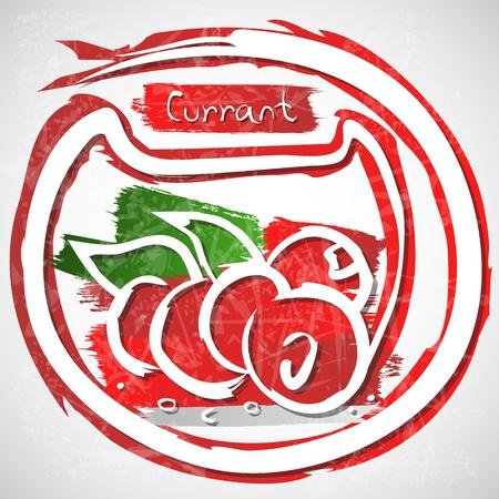 レッドカラント: 図の赤スグリを葉します。