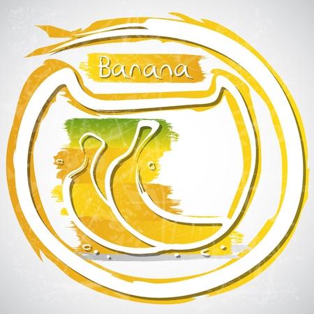 healthful: Illustration of bananas