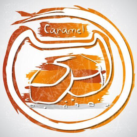 caramel: illustration of caramel pieces
