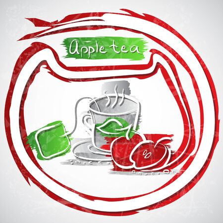 illustration of cup of fruit tea Stock Illustration - 20893147