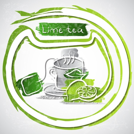 illustration of cup of fruit tea Stock Illustration - 20893173