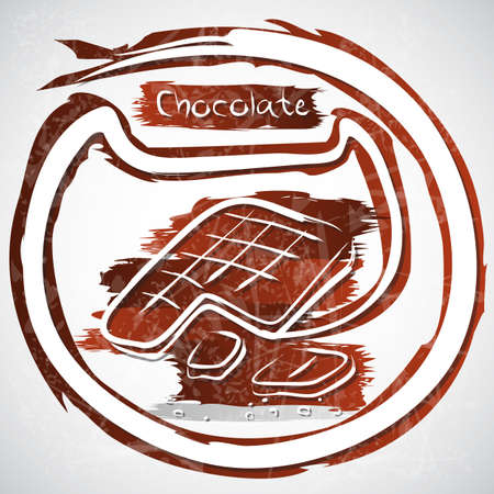 illustration of chocolate bars illustration