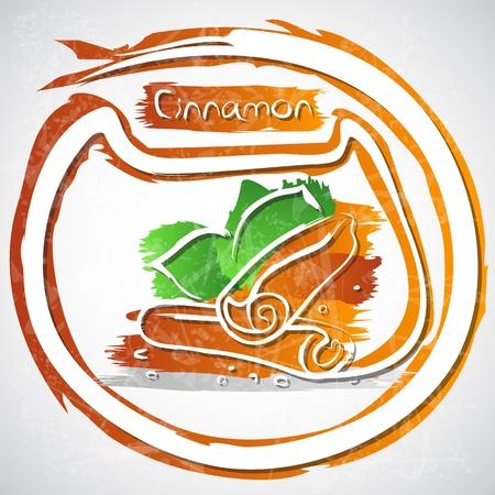 cinnamon sticks: illustration of cinnamon sticks