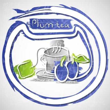 illustration of cup of fruit tea Stock Illustration - 20893215