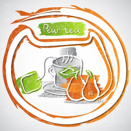 illustration of cup of fruit tea Stock Illustration - 20893227