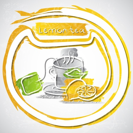 illustration of cup of fruit tea Stock Illustration - 20893221