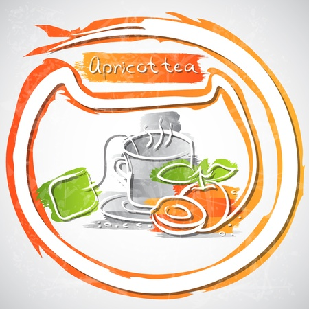 illustration of cup of fruit tea Stock Vector - 20893285