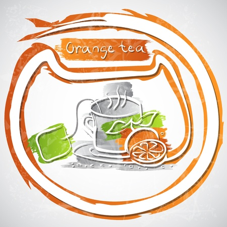 illustration of cup of fruit tea Stock Vector - 20893289