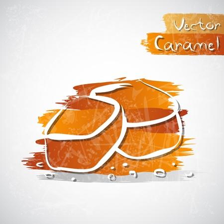 Vector illustration of caramel cubes