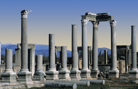 Greek and Roman Ruins at Perge, Turkey
