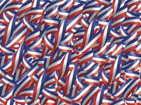High Resolution Background of Ribbons in Red, White, and Blue