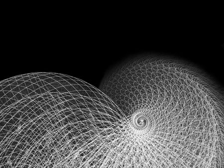 high resolution: High Resolution Wireframe Spiral Illustration on White