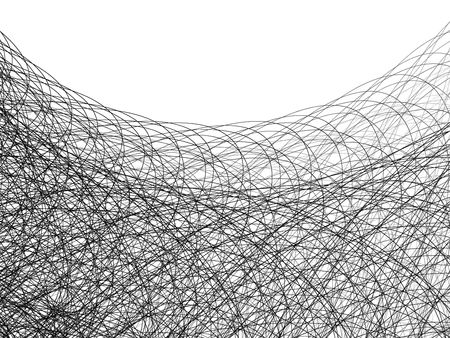 Wire and Line Illustration on White