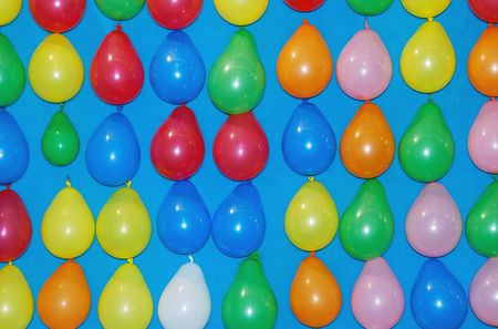 Hanging Multicolored Balloons Found at a Fair Stock Photo