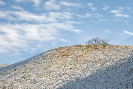 Natural Skyline Landscape of a Snowy Hill Stock Photo - 4182687
