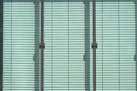 Jalousie Window on a Modern Office Building Stock Photo