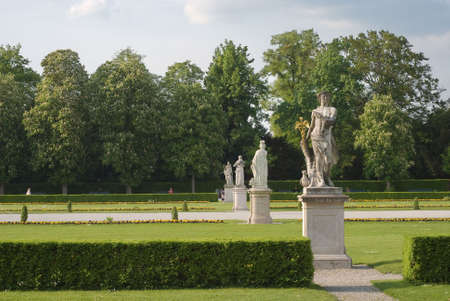 Statues  Along a Walkway at Nymphenburg Palace in Munich Stock Photo - 4827417