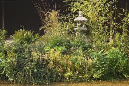 The Serenity of a Japanese Ceremonial Tea Garden  photo