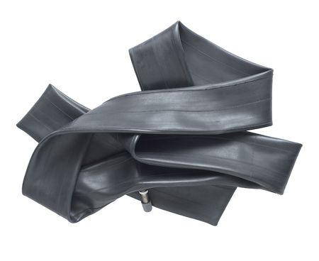 Deflated Rubber Tire Tube for Bicycling photo