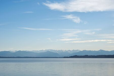 Alpine Landscape with Lake Starnberger (Starnberger See) photo