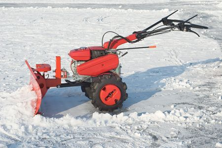 Snowplow for Removing Snow after Winter Storm  photo
