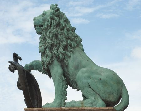 A Lion Statue as Symbol of German Culture photo